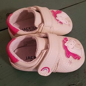 52b6d60cac90 Shoes - Jack and Lily Leather Unicorn Baby Shoes